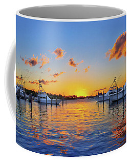 Sunset Over The Sailfish Marina In Riviera Beach Florida Coffee Mug