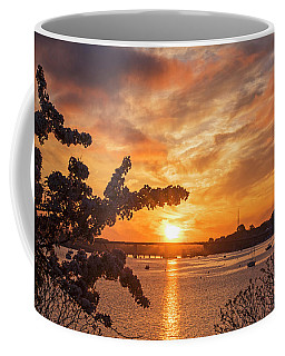 Sunset Over The Salem Beverly Bridge From The Salem Willows Salem Ma Coffee Mug