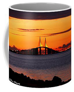 Sunset Over The Skyway Bridge Coffee Mug