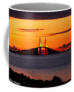 Sunset Over The Skyway Bridge Coffee Mug