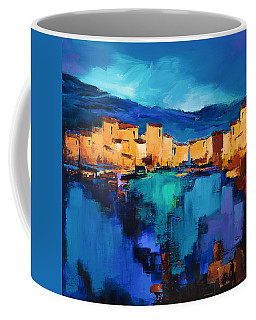 Sunset Over The Village 3 By Elise Palmigiani Coffee Mug
