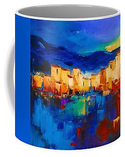 Sunset Over The Village Coffee Mug