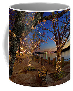 Sunset Over The Wilmington Waterfront In North Carolina, Usa Coffee Mug