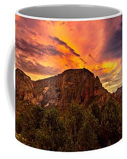 Sunset Over Timber Top Mountain Coffee Mug