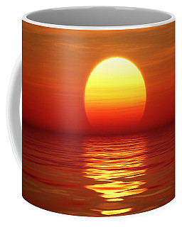 Sunset Over Tranqual Water Coffee Mug