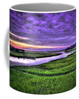 Sunset Over Turners Creek Savannah Tybee Island Ga Coffee Mug
