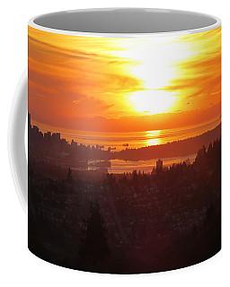 Sunset Over Vancouver Coffee Mug