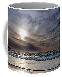 Sunset Over West Coast Beach With Silk Clouds In The Sky Coffee Mug