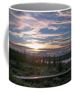 Sunset Over West Yellowstone Coffee Mug