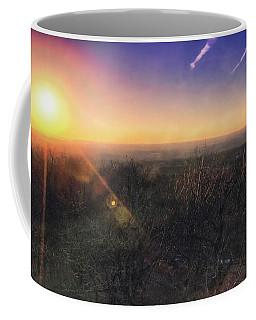 Sunset Over Wisconsin Treetops At Lapham Peak  Coffee Mug by Jennifer Rondinelli Reilly - Fine Art Photography