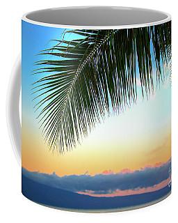 Sunset Palm Frawn Coffee Mug