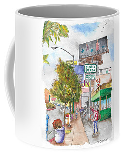 Sunset Plaza, Sunset Blvd., And Londonderry, West Hollywood, California Coffee Mug