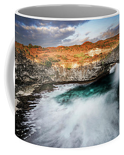 Coffee Mug featuring the photograph Sunset Point In Broken Beach by Pradeep Raja Prints