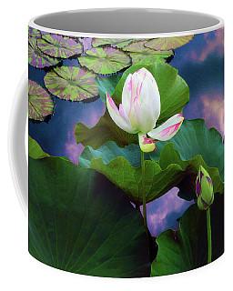 Sunset Pond Lotus Coffee Mug