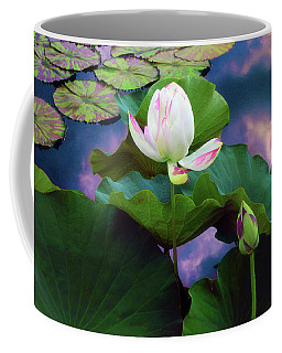 Sunset Pond Lotus Coffee Mug