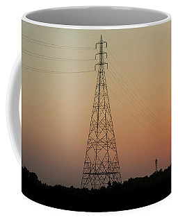 Coffee Mug featuring the photograph Sunset Pylons by Chris Cousins
