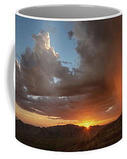 Coffee Mug featuring the photograph Sunset Rainglow by Gaelyn Olmsted
