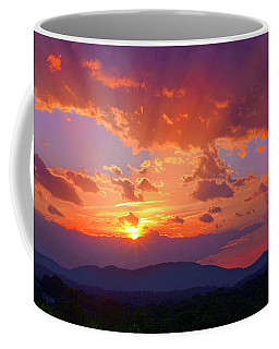 Sunset Rays At Smith Mountain Lake Coffee Mug