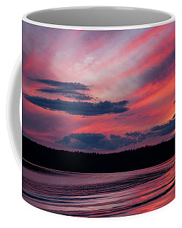 Sunset Red Lake Coffee Mug
