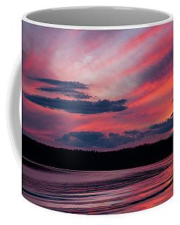 Sunset Red Lake Coffee Mug