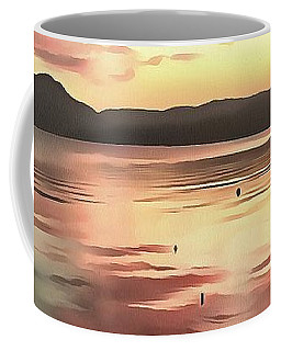 Sunset Reflected On Water Coffee Mug