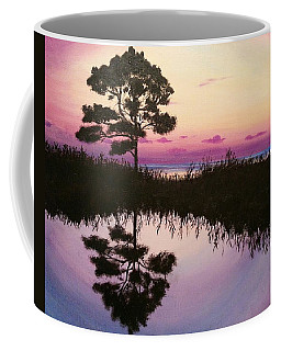 Coffee Mug featuring the painting Sunset Reflection by Amelie Simmons