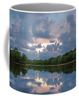 Coffee Mug featuring the photograph Sunset Reflections by Lori Coleman