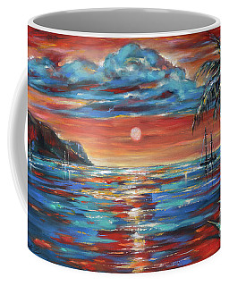 Coffee Mug featuring the painting Sunset Repose St Kitts by Linda Olsen
