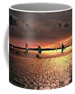 Sunset Sail - Bermuda Coffee Mug by Judy Palkimas