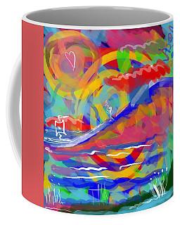 Sunset Sailboat Coffee Mug by Jason Nicholas