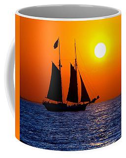 Sunset Sailing In Key West Florida Coffee Mug