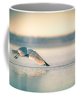 Sunset Seagull Takeoffs Coffee Mug