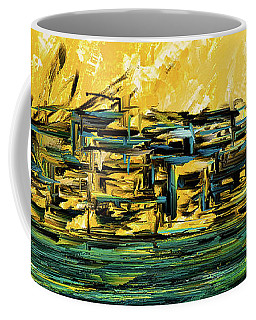 Sunset Showdown - Downtown Cityscape Art Coffee Mug