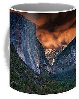Sunset Skies Over Yosemite Valley Coffee Mug