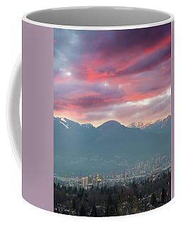 Sunset Sky Over Port Of Vancouver Bc Coffee Mug