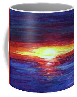 Coffee Mug featuring the painting Sunset by Sonya Nancy Capling-Bacle