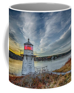 Sunset, Squirrel Point Lighthouse Coffee Mug