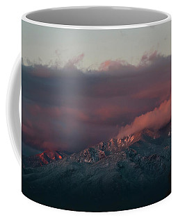 Sunset Storm On The Sangre De Cristos Coffee Mug by Jason Coward
