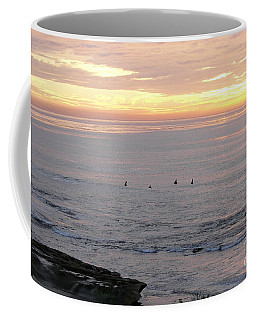 Coffee Mug featuring the photograph Sunset Surfing by Carol  Bradley