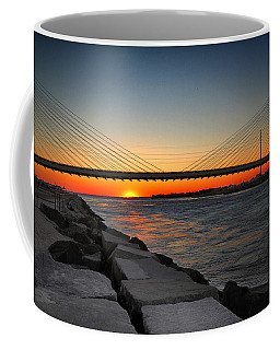 Sunset Under The Indian River Inlet Bridge Coffee Mug