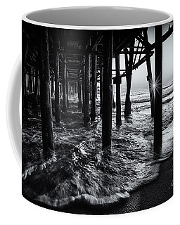 Sunset Under The Santa Monica Pier Coffee Mug