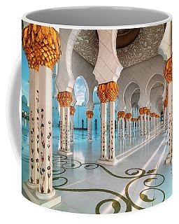 Sunset View At Sheikh Zayed Grand Mosque, Abu Dhabi, United Arab Emirates Coffee Mug