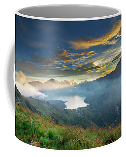 Coffee Mug featuring the photograph Sunset View From Mt Rinjani Crater by Pradeep Raja Prints