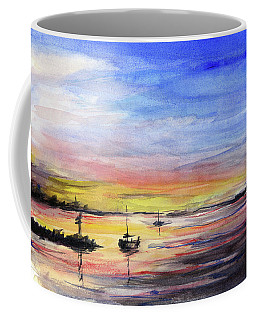 Sunset Watercolor Downtown Kirkland Coffee Mug