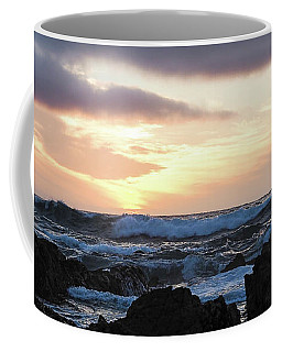 Sunset Waves, Asilomar Beach, Pacific Grove, California #30431 Coffee Mug