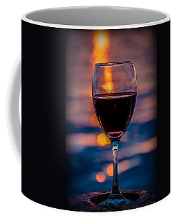 Coffee Mug featuring the photograph Sunset Wine by Michaela Preston