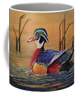 Sunset Wood Duck Coffee Mug