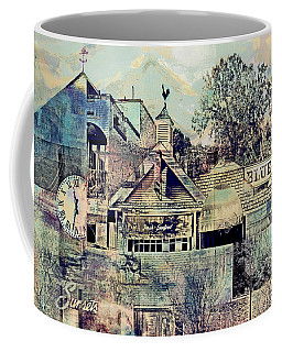 Sunsets And Blue Point Collage Coffee Mug