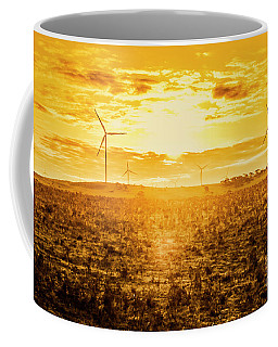 Sunsets And Golden Turbines Coffee Mug