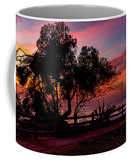 Sunset Silhouettes From Palisades Park Coffee Mug